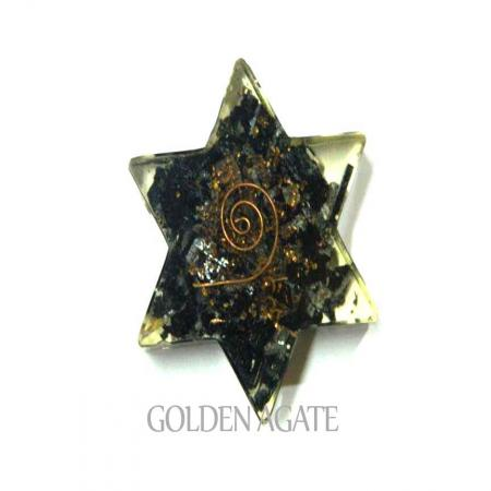 Black Tourmaline Flat Star