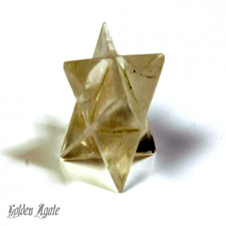 Smoky Quartz Merkaba Star