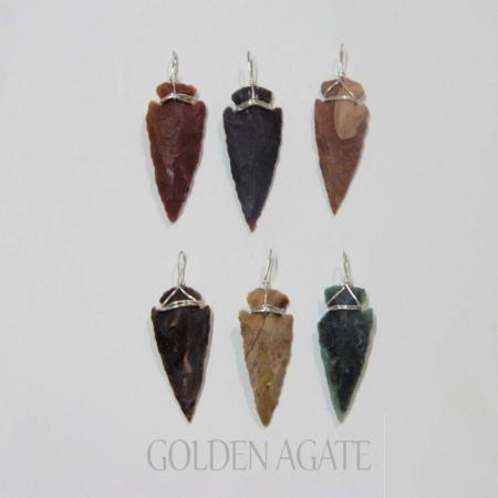 1 inch arrowhead pendants